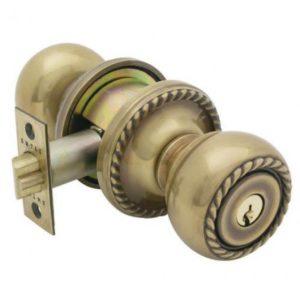 The Interior Knob Has A Decorative Doorknob Lock
