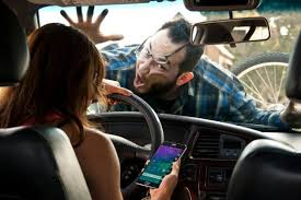 Texting driver hitting bicyclist