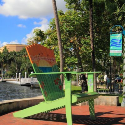 Beach Adirondack Chair | Fort Lauderdale Riverwalk | Fort Lauderdale FL Locksmith