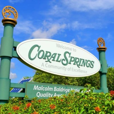 Coral Springs City of Excellence Sign   Coral Springs FL Locksmith