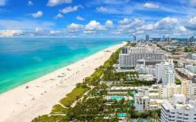 Miami Beach Locksmith | Aerial View Down Miami Beach FL | Lock N More