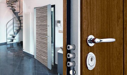 Fancy Residential Door Lock on Open Front Door of Contemporary Home